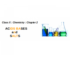 CBSE : Class X : Chapter 2 : Acids, Bases and Salts : What is Acids and what are their characteristics ?
