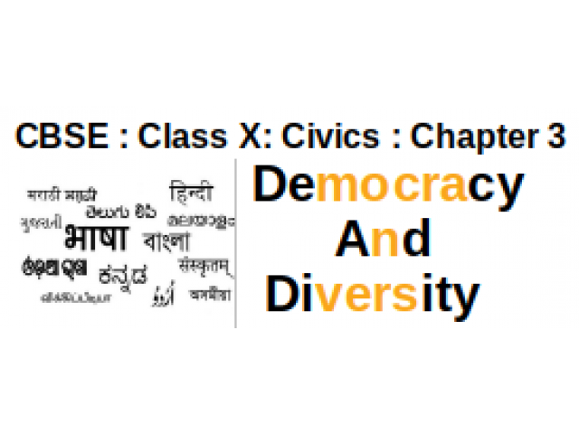 CBSE : Class X : Civics : Chapter 3 : Democracy And Diversity : Question and Answers
