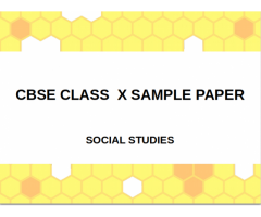 CBSE : Class X : History : Sample Questions paper
